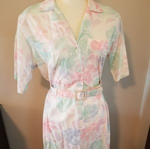 Vintage Stuart Alan 80s Dress Small